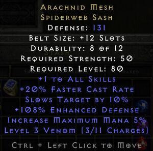 Diablo 2 Resurrected (D2R) Battle.net (PC) Arachnid Mesh - Arach