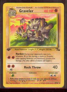 Pokemon GRAVELER 37/62 1st Edition Fossil - NEAR MINT/MINT