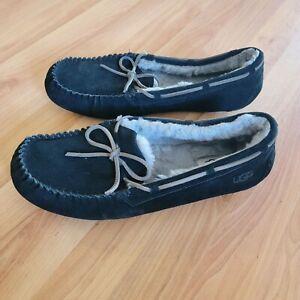 UGG Olsen Moccasin Slipper Black Size 14