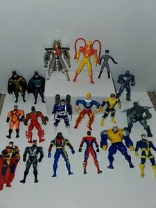 Vintage 90s Toy BIZ Marvel  dc Lot, 17 Figures In Total, x men batman , superman