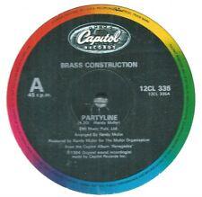 "Brass Construction – Partyline  1984  Soul/ Disco 12"" Single Vinyl"