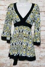 Nanette John 3:16 Women Size S Dress Shirt  V-neck Long Sleeve Floral  Casual