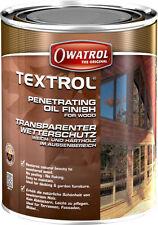 Textrol transparent 1l Owatrol Holzschutz Öl Holzöl Holz Schutz Pflege Holzmöbel