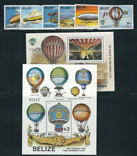 BELIZE 1983 200th ANNIVERSARY of MANNED FLIGHT (772-79 comp with 2 sheets) MNH