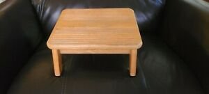 Vintage Wooden Foot Stool/Bench/Foot Rest Slanted Top