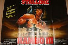 stallone RAMBO 3  !  affiche cinema model rare