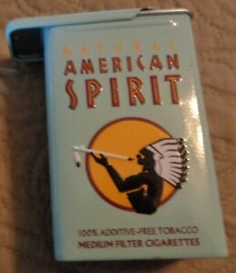 Natural American Spirit Cigarette Tin  20th Anniversary Blue Medium slide top
