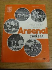 20/03/1973 Arsenal v Chelsea [FA Cup Replay] (folded, creased, marked). Footy Pr