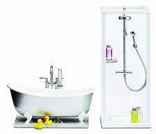 Lundby 1:18 Scale Dolls House Smaland Shower and Bath Set