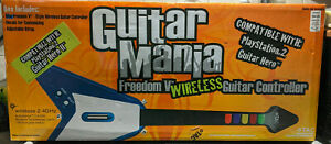 PS2 Guitar Hero Mania TAC Freedom V Wireless Guitar Controller In Box Complete