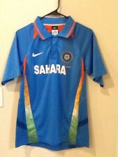 Men's Nike India Cricket Jersey Polo Shirt Top Dri-Fit Sahara Size Small
