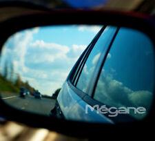 RENAULT MEGANE WING MIRROR ETCHED GLASS CAR VINYL DECALS-STICKERS x3 -7 YR VINYL