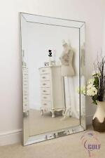 Frameless Large Venetian All Glass Leaner Wall Mirror 171cm x 111cm
