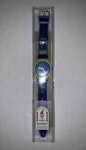 Swatch Watch 1996 Atlanta Summer Olympics Volunteer Green Blue GJ-109C NIB New