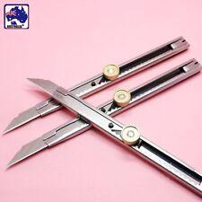 Slide Snap Off Knife Knives Pocket Box Cutter Blade Retractable Metal TSQKN4815