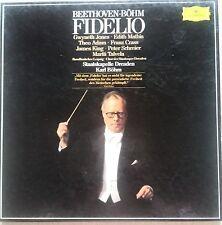 "3 LP-BOX SET-BEETHOVEN-BOHM , ""FIDELIO"" JONES, MATHIS, ADAM,CRASS..MINT"