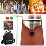 Piano Kalimba Portable 17 Touches Piano Mbira Acajou Bois Sac Transport Durable