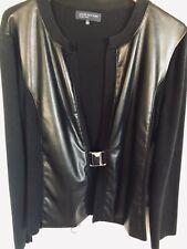 Jones New York Cardigan - Leather Look - Buckle Front - XL