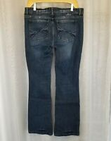 White House Black Market Womens Sz 8R Medium Wash Jeans Noir Bootcut Mid Rise