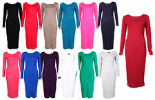 Unbranded Long Sleeve Jersey Dresses Midi