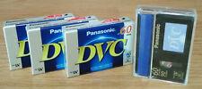 4 Panasonic Camcorder Tapes DVC 60SP 90LP Mini AY-DVM60EJ Digital Video Cassette