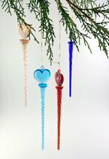 Glass Drops to Hang Twisted At Headrest with Heart 4 Various Colours