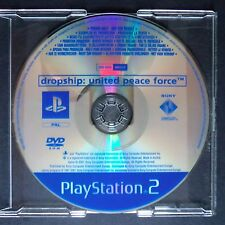 promo DROPSHIP UNITED PEACE FORCE PlayStation 2 UK PAL・♔・prerelease full game PS