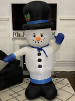 Gemmy Airblown Inflatable Waiving Snowman 6 Ft Christmas Yard Decoration