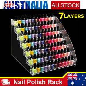 Acrylic 7 Tiers Nail Polish Stand Makeup Display Cosmetics Rack Holder Organizer