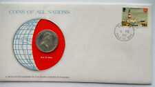 1978 Isle of Man 10 Pence Coin and Stamp BU Mint Collector Set  SB5530