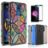 For LG Stylo 5/4/3 Plus Case Hybrid Armor Phone Cover+Tempered Glass Screen