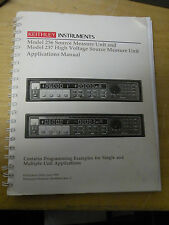 Applications Manual Keithley 236 Source Measure Unit & 237 High Voltage Unit