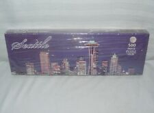 John Hinde 500 Piece Puzzle of the Beautiful Seattle Skyline at night