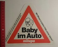 Aufkleber/Sticker: Baby im Auto Milupa (11121651)