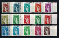 "FRANCE YVERT 1965-1979 "" SABINE DAVID VARIETY WITHOUT PHOSPHOROUS "" MNH VF V274"
