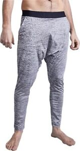 Ohmme Matsyendra Mens Yoga Pants Grey Tapered Relaxed Fit Dropped Crotch Vegan