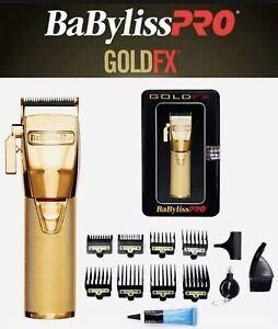 New Babyliss Pro Gold FX870G Cordless Clipper 100-240 Volts 50-60 Hz