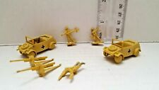 Japanese Plastic Army Men - 7pc WW2 Soldiers Car Figures Made in Japan