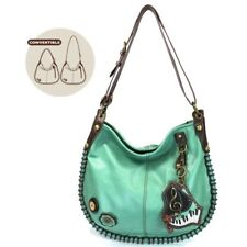 New Chala CONVERTIBLE Hobo Large Tote Bag PIANO Vegan Leather Teal gift Green