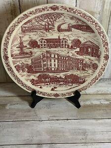 "Vintage 10.5"" Vernon Kilns® U.S.A. Collector Plate: Sherman, Texas."