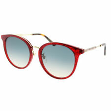 Gucci GG 0204SK 005 Red Plastic Fashion Sunglasses Blue Gradient Lens