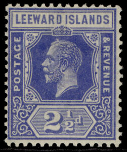 LEEWARD ISLANDS GV SG67, 2½d bright blue, M MINT.