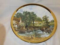 Vintage Berkshire Bone China Wall Plate Large River Scene In Great Condition
