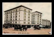 DR JIM STAMPS US POSTCARD HOTEL WASHINGTON SEATTLE CARRIAGES CARS