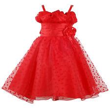 Niña Rojo Vestido de Fiesta 9 Meses A 11 Años