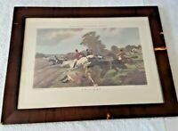 Vintage Antique 1960's Herring's Fox Hunting Scenes Matted Framed Soicher-Marin