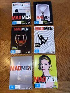 Mad Men : Season 1 2 3 4 5 6 (DVD) Six Seasons 1-6  Australia Region 4