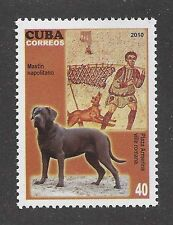 Dog Photo Full Body Portrait Postage Stamp Neo Neapolitan Mastiff Caribbean Mnh