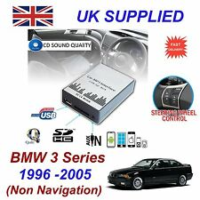 PER BMW 3 MP3 SD USB CD INGRESSO AUX adattatore audio digitale Changer Modulo 3