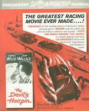 1957 The Devil's Hairpin pressbook  Cornel Wilde, Jean Wallace car racing movie